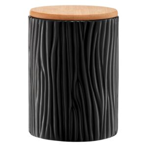 Kitchen container Tuvo black with bamboo lid 1110 ml AMBITION