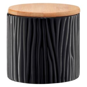Kitchen container Tuvo black with bamboo lid 670 ml AMBITION