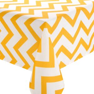 Tablecloth Yellow Stripes 130x160 cm AMBITION