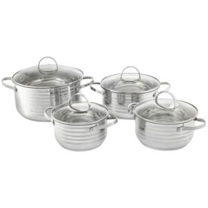 Cooking pot set stainless steel Twin 8-pcs. (16 / 18 / 20 / 24) AMBITION
