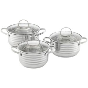 Cooking pot set stainless steel Twin 6-pcs. (18 / 20 / 24) AMBITION