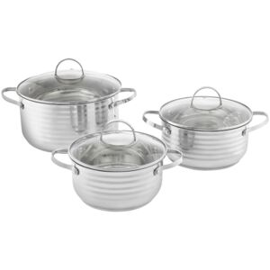 Cooking pot set stainless steel Twin 6-pcs. (16 / 18 / 20) AMBITION