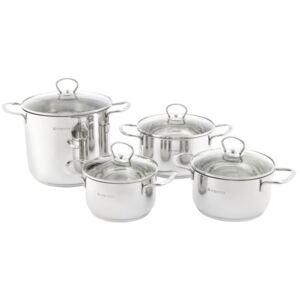 Set of pots stainless steel Dallas 8 pcs (16 / 18 / 20 / 22) AMBITION