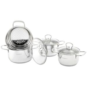 Set of pots stainless steel Dallas 7 pcs (16 / 18 / 20 ) AMBITION