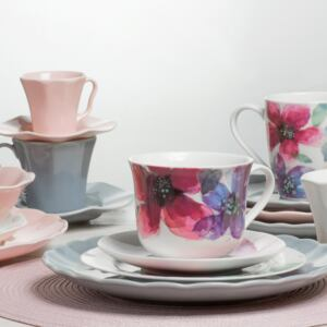 Cup with saucer Watercolor 450 ml AMBITION