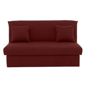 Versatile Small 2 Seater Fabric Sofa Bed No Arms - Red