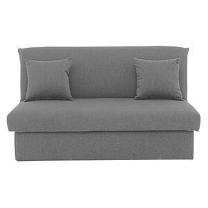 Versatile Small 2 Seater Fabric Sofa Bed No Arms - Grey