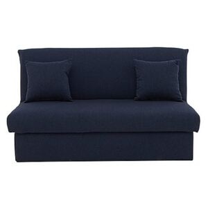 Versatile Small 2 Seater Fabric Sofa Bed No Arms - Blue