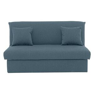 Versatile Small 2 Seater Fabric Sofa Bed No Arms