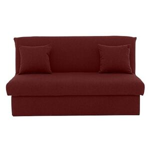 Versatile 2 Seater Fabric Sofa Bed No Arms - Red