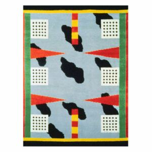 California Rug - / By Nathalie Du Pasquier, 1983 - 250 x 180 cm / Hand-made by Memphis Milano Multicoloured