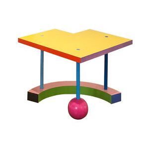 Hollywood Special Edition End table - / By Peter Shire, 1983 - Limited edition by Memphis Milano Multicoloured