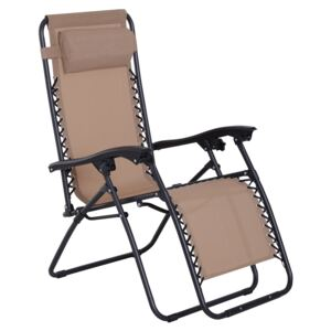 Outsunny Zero Gravity Chair Adjustable Patio Lounge Chair Recling Seat