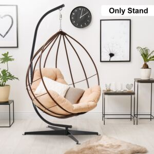Outsunny Hanging Hammock Stand Chair Stand C Stand Steel Heavy Duty Stand for Hanging Hammock Air Porch Swing Chair Only Construction