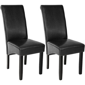 Tectake 401293 dining chairs with ergonomic seat shape - black