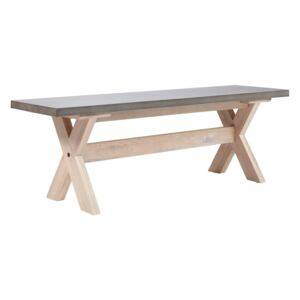Carly Concrete Dining Bench
