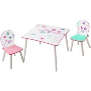 Worlds Apart 3 Piece Table and Chairs Set Birds