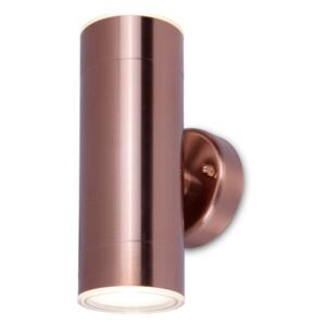 Lutec Rado Up And Down Outdoor Wall Light In Copper