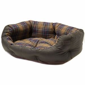 Barbour Wax Cotton Dog Bed Olive 24