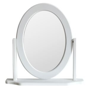 Oval Dressing Table Mirror - White