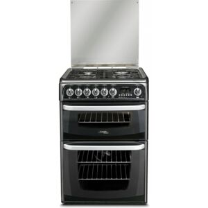 Cannon By Hotpoint Black Dual Fuel Cooker With Double Oven