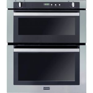 Stoves Stainless Steel Built Under Gas Double Oven With Telescopic Sliders And Halogen Lights