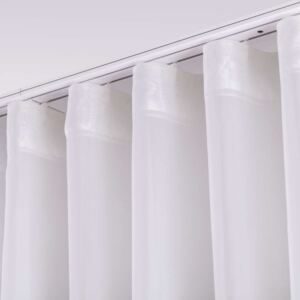 Wave voile curtain