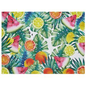 Table place mat Tropical 40 x 30 cm leafs / fruits AMBITION