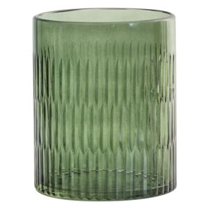 Wade Green Tone Glass Candle Holder, Small