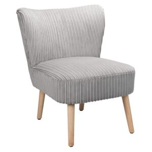 Jerry Jumbo Cord Occasional Chair - Grey