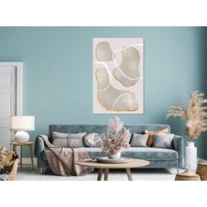 Canvas Print Abstract: Dream About the Beach (1 Part) Vertical