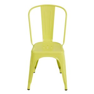 A Stacking chair - Steel - Glossy color - Indoor by Tolix Yellow