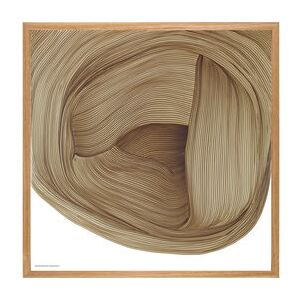 Ronan Bouroullec - Drawing 5 Framed poster - / 70 x 70 cm by The Wrong Shop Brown
