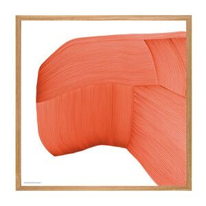 Ronan Bouroullec - Drawing 6 Framed poster - / 70 x 70 cm by The Wrong Shop Orange