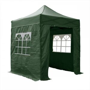 Airwave Four Seasons 2x2 Pop Up Gazebo with Sides - Green Colour: Gree