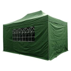 Airwave Four Seasons 3x4.5 Pop Up Gazebo with Sides - Green Colour: Gr