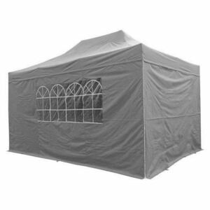Airwave Four Seasons 3x4.5 Pop Up Gazebo with Sides - Grey Colour: Gre