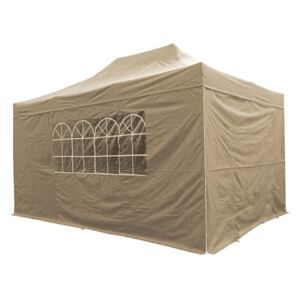 Airwave Four Seasons 3x4.5 Pop Up Gazebo with Sides - Beige Colour: Be