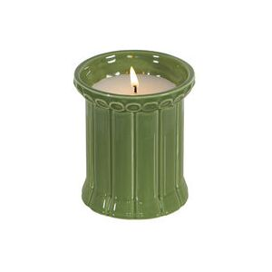 Carrousel Scented candle - / Glazed ceramic - Ø 9 x H 10 cm by Maison Sarah Lavoine Green