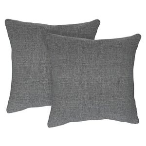 The Lounge Co. - Bronwyn Pair of Large Fabric Cushions - Grey