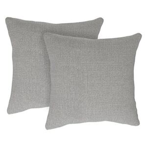 The Lounge Co. - Bronwyn Pair of Large Fabric Cushions - Silver