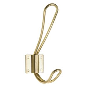 Wire Hook - Brushed Brass