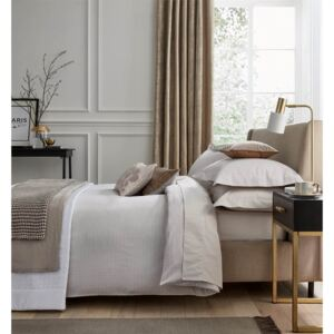 Peacock Blue Hotel Collection Kavali Duvet Cover Set - Double - Truffle