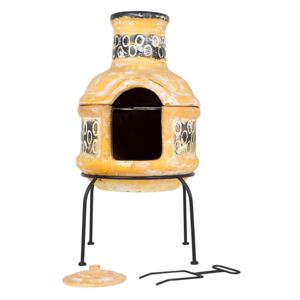 Circles Clay Chimenea With Grill