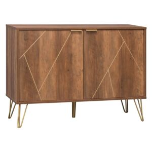 Moscow Sideboard - Wood Effect and Gold