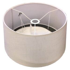 Linen Tapered Lamp Shade Diffuser - Ivory & White
