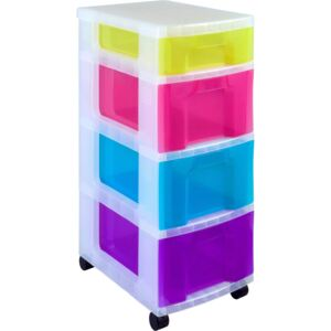 Mobile Storage Tower with 4 Drawers