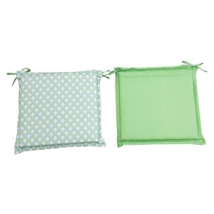 Homebase Outdoor Seat Pad Cushions in Geometric Green - (Pack of 2)