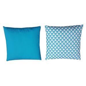 Homebase Outdoor Scatter Cushion in Geometric Blue
