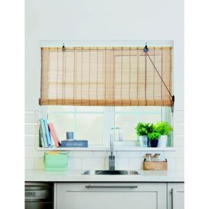 Brown Bamboo Roll Up Blind 60cm